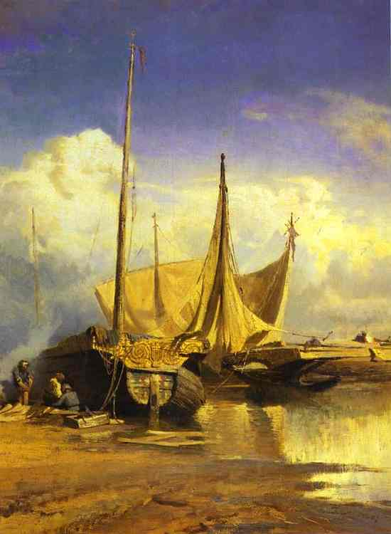 Fyodor Vasilyev_barges_on_Volga