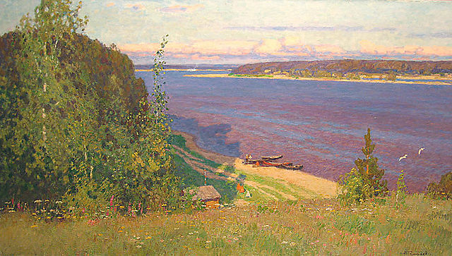 Galakhov-Nikolai-On-the-Volga-River-1993